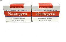 Neutrogena Acne-Prone Skin Transparent Facial Bar 3.5 OZ Lot Of 2