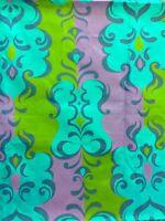 Vintage Retro Danish Modern Mid Century FABRIC Blue Green Purple