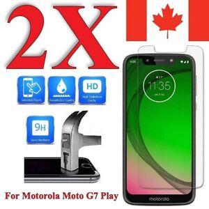 Premium Tempered Glass Screen Protector for Motorola Moto G7 Play (2 Pack)