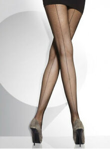 Fishnet Pantyhose with Seam up the back