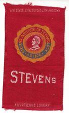 New listing 1910s S25 tobacco / cigarette / college silk Stevens Institute