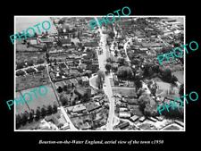 OLD LARGE HISTORIC PHOTO OF BOURTON ON THE WATER ENGLAND VIEW OF THE TOWN 1950 2