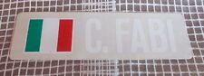 Adesivo Formula 1 CORRADO FABI F1 Osella Brabham sticker anni 80 - 20 cm VETRO