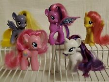 Lot of 5 MY LITTLE PONY Figures PINKY PIE,  Rarity,  Fluttershy Unicorn Pegasus