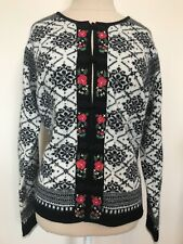 Womens Norm Thompson Sz M wool rabbit hair Nordic style sweater NWT