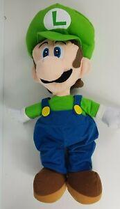 Extra Large Luigi Bean Plush 64cm 2008 Nintendo Mario Character