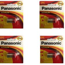 4 Panasonic CR-2 CR2 CR-2PA DL-CR-2 3V Lithium Battery, FRESH in Retail PKNG