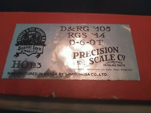 Iron Horse Models Brass D&RG '105 RGS '14 HOn3 0-6-0T Precision Scale Company