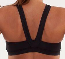 Lululemon Size 4 Some Like It Hot Black Sports Run Yoga Bra Woman EUC