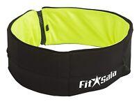 Premium Running, Fitness, Jogging Belt with Pockets (Green/Black) size: Medium
