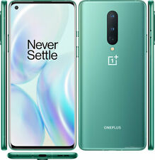 "OnePlus 8, Android, 6.55"", SIM Free , 8GB RAM, 5G 256GB, Glacial Green Mint A++"