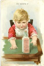 "Scott's Emulsion of Cod Liver Oil,"" He Wants it"" Scott & Bowne, New York"