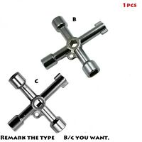 Universal Cross Key Wrench Electrical Elevator Cabinet Square Triangle for Train
