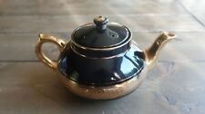 Black Gold Sevres Davenport Late Gibson and Sons Tea Pot 9 x 6 x 5 inches