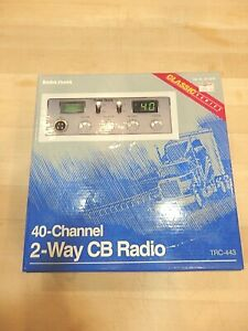 RADIO SHACK 40 CHANNEL 2 WAY CB RADIO TRC-443  CHROME PLATED FRONT PANEL NEW