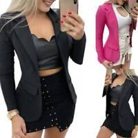 Women Long Sleeve Slim Fit Blazer Suit Ladies Formal Business Coat Work Jacket