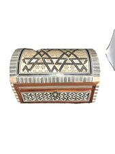Vintage Egyptian Treasure Inlaid Mother of Pearl Wood Box 6 1/2� X 4� X 3 1/2�