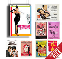 AUDREY HEPBURN BEST MOVIES POSTERS Collection of Classic Films * A3 / A4 Size