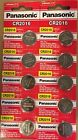 Pack of 10 Panasonic CR2016 Lithium Coin Watch Batteries 3V Exp: 2025 USA SELLER