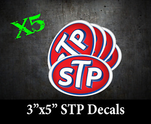 X5 STP Logo Decal Racing window Sticker NASCAR NHRA NOS PRISTINE RICHARD PETTY