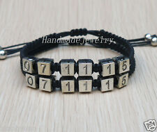 Handmade Save the Date Couples Bracelets Personalized Jewelry Anniversary Gifts
