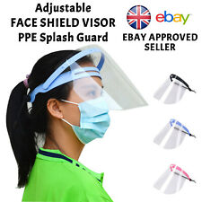 HEADBAND Face Shield Visor PPE Protection Safety Mask Transparent Clear Plastic