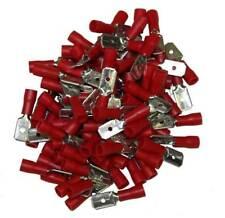 COSSES ELECTRIQUES MALES PLATES ROUGES 6.3 SACHET DE 100 COSSES