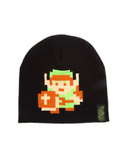 OFFICIAL NINTENDO'S THE LEGEND OF ZELDA 8-BIT LINK BLACK BEANIE HAT (NEW)