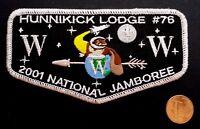 HUNNIKICK LODGE 76 OA BURLINGTON COUNTY COUNCIL PATCH 37 2001 JAMBOREE SMY FLAP
