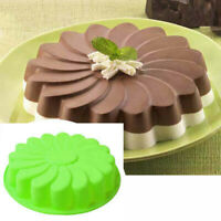 Silicone Large Flower Cake Mould Chocolate Soap Candy Jelly Mold Baking Pans