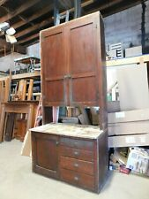 1900's Antique Butlers Pantry Cabinet Built-In Craftsman Style Fir Original