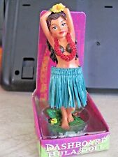 Hawaii  Hula Girl with red lei  Movable Dashboard Doll 4 inches tall
