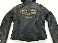 HARLEY DAVIDSON 110TH ANNIVERSARY WOMEN'S LEATHER 3 IN 1 JACKET L 97148-13VW
