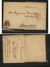 Belgium #8 on folded letter 1856 Kl0803