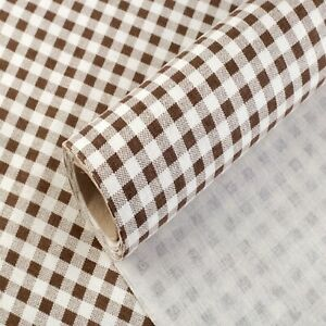 Brown Gingham Cotton Fabric 48cm 150cm Fat Quarters Craft Sewing Deco Check UK
