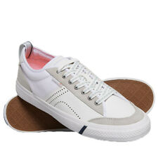 Superdry NEW Men's Skate Classic Low Shoes - White BNWT