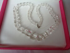 B'FUL EDWARDIAN/ART DECO GRADUATED CRYSTAL/GLASS CUBE BEADS FOR RESTRINGING