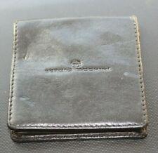 SERGIO TACCHINI Leather Coin Purse Wallet Small 8cm square VGC
