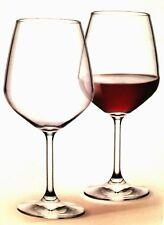 Three Bormioli Rocco Red Wine Glasses Clear Tempered Stems 18 oz
