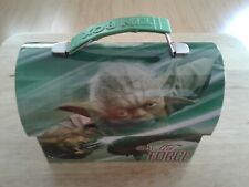 Star Wars Yoda Workmans Carry All Tin Tote Lunchbox Use The Force 2015 Green