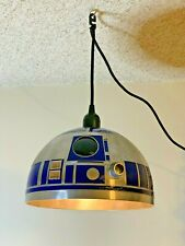 Custom Stainless-Steel Star Wars R2-D2 Pendulum Lamp Fixture