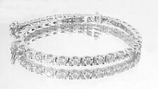4.00ct ROUND CUT DIAMOND TENNIS BRACELET 14K WHITE GOLD D VS2