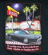 IN-N-OUT BURGER ARIZONA / USA FAST FOOD CHAIN HAMBURGER / BLACK T-SHIRT SIZE XL