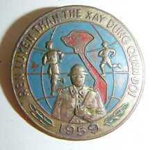 1959 VIET MINH - Army Engineers - BADGE - Train Your Body - Vietnam War - 5058