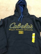 NWT Cabela's Men's Game Day Hoodie Jacket Pullover size Small Midnight Navy New