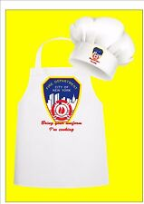 NYC Fire Dept Chefs Apron & Chefs Hat Set, What Happens in Vegas, New York Apron