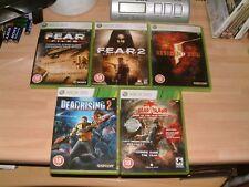 FEAR 2 + FEAR FILES + DEAD ISLAND + DEAD RISING 2 + RESIDENT EVIL 5  XBOX 360