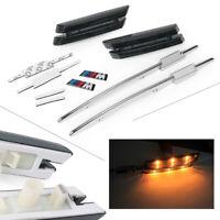 LED Side Marker Light Turn Signals Smoke Fit BMW M E90 E91 E92 E93 E81 E88 E60