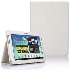 Leather Stand Case Cover for Samsung Galaxy Tab 2 10.1 Inch P5100 P5110 - White