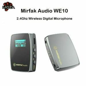 MOZA Mirfak WE10 Pro Dual-Channel 2.4G UHF Wireless Lavalier Microphone System